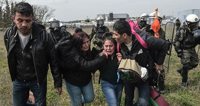 Migrants en Grèce