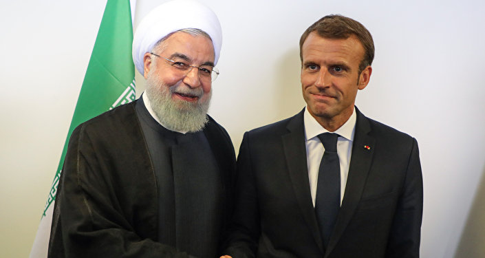 Hassan Rohani et Emmanuel Macron