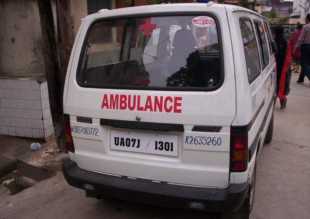 Ambulance en Inde
