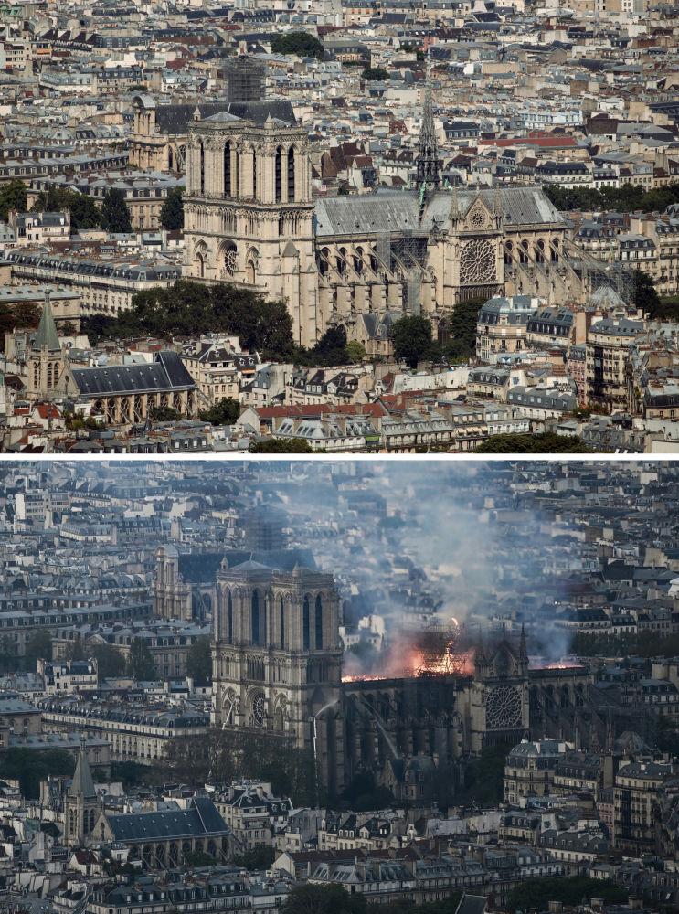 Notre-Dame de Paris avant et après l'incendie