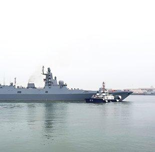 La frégate Admiral Gorchkov à Qingdao