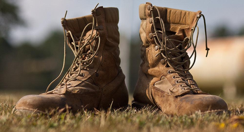 Botas militares de EEUU, foto archivo