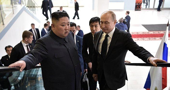 Vladimir Poutine et Kim Jong-un