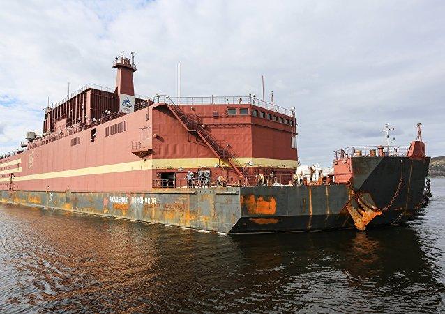 La centrale nucléaire flottante Akademik Lomonossov