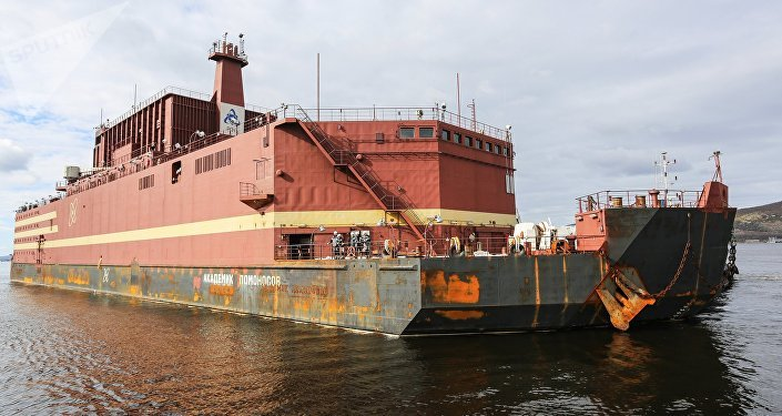 La centrale nucléaire flottante Akademik Lomonosov
