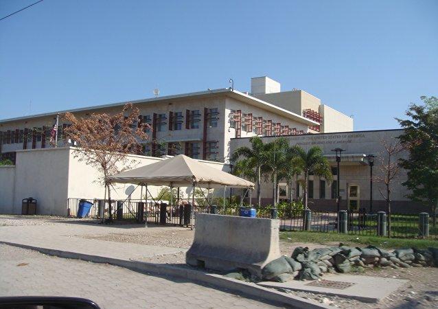 Ambassade des Etats-Unis à Port-au-Prince, en Haïti