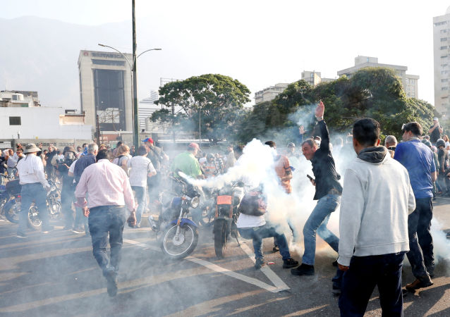 Situtation près de la base de La Carlota à Caracas