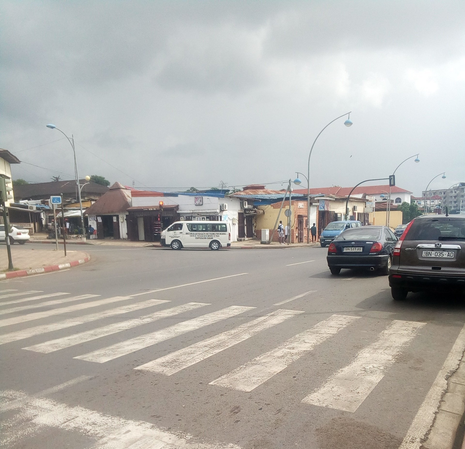 Le quartier Los Angeles à Malabo, sur l'île de Bioko, une ville portuaire et capitale de la Guinée équatoriale