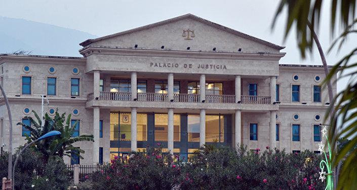 Le palais de Justice à Malabo, Guinée équatoriale