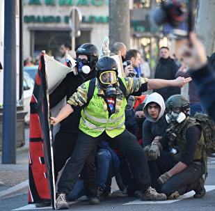 Une manifestation des Gilets jaunes à Toulouse, image d'illustration