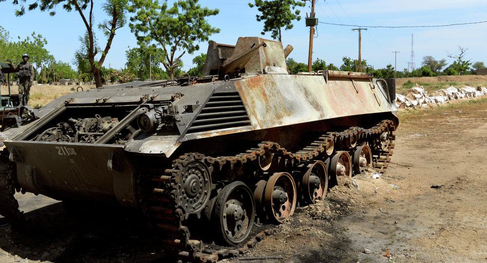 Un char de Boko Haram