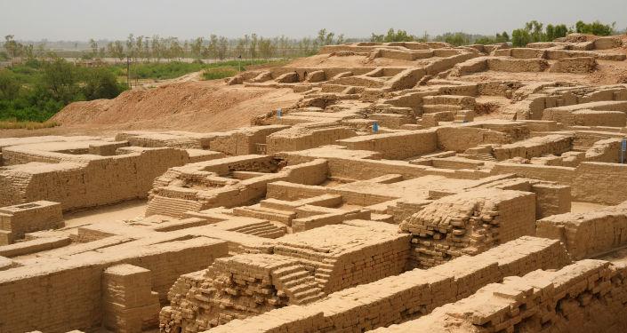 Vestiges de la civilisation harappéenne. Image d'illustration
