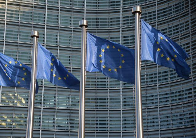 Des drapeau de l'Union Européenne à Bruxelles