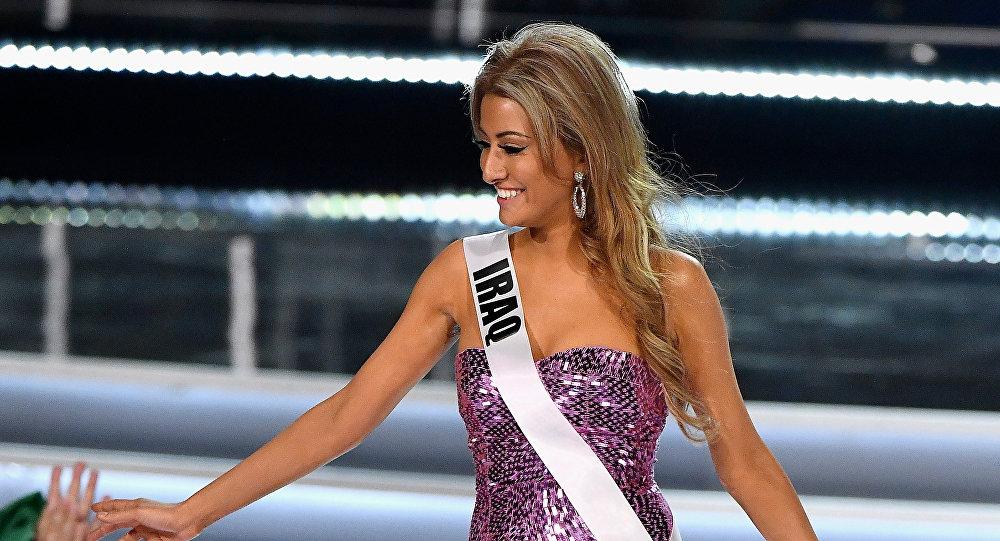 Miss Irak Sarah Idan lors du concours Miss Univers à Las Vegas, novembre 2017