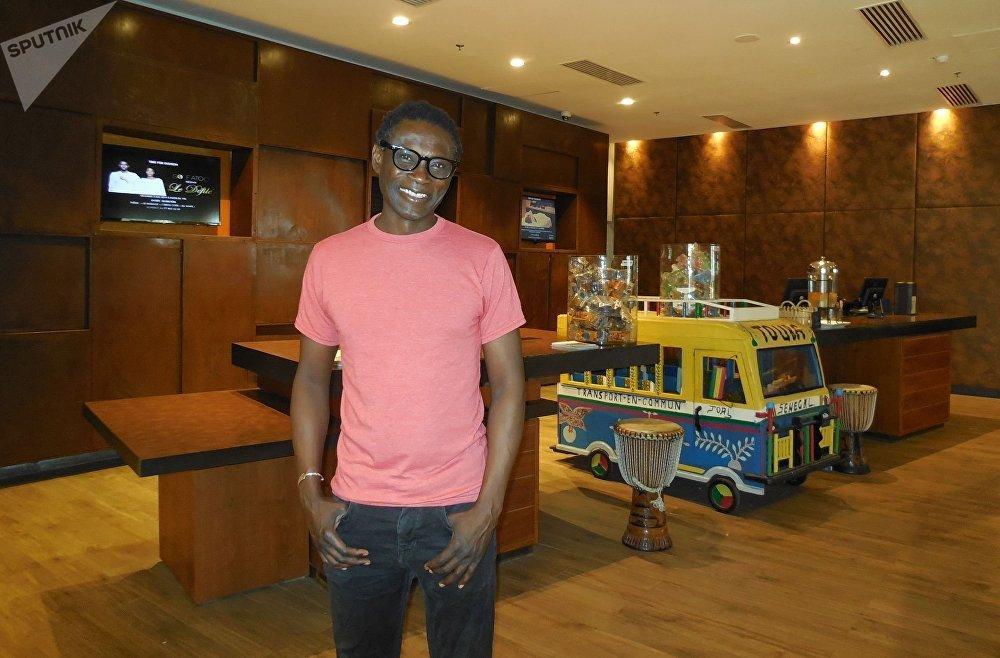 Pierre Thiam à l'hôtel Pullman Teranga de Dakar, le samedi 27 avril 2019