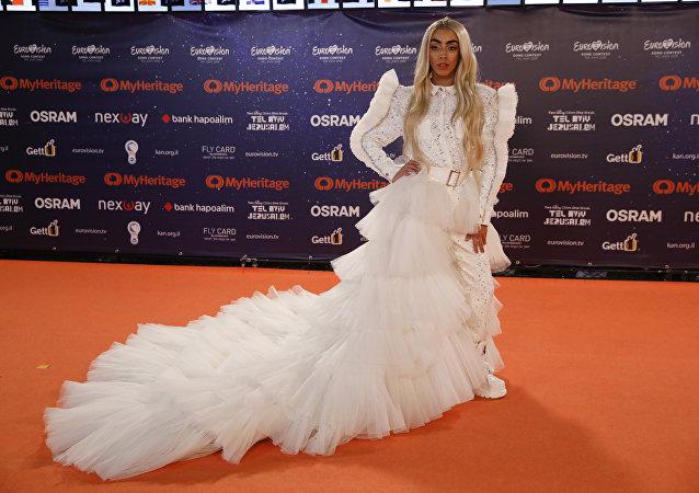 Bilal Hassani, le 12 mai 2019 lors de l'Eurovision