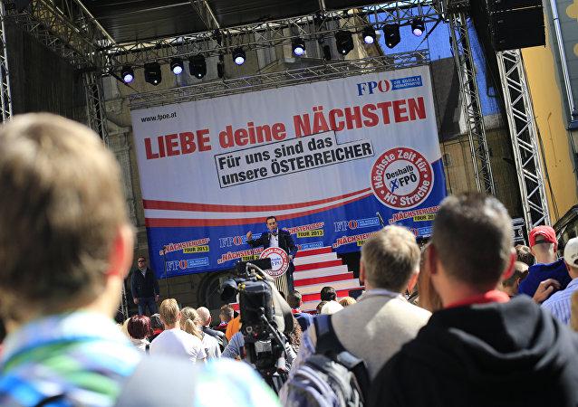 FPÖ-Demo in Klagenfurt, Österreich (Archivbild)