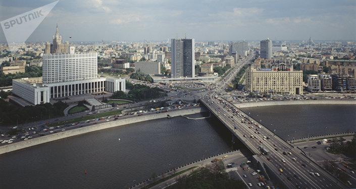 Panorama de la nouvelle rue Arbat, 2002