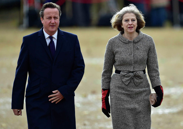 David Cameron et Theresa May