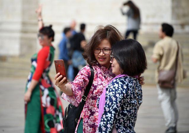 Des touristes