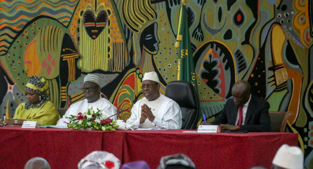 Macky Sall, Président du Sénégal, à la cérémonie du dialogue national le 28 mai 2019 à Dakar. © Présidence du Sénégal