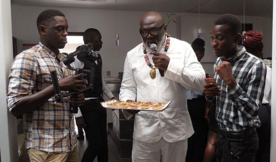 Christian Abégan lors de la campagne AfroGourmands, Dakar