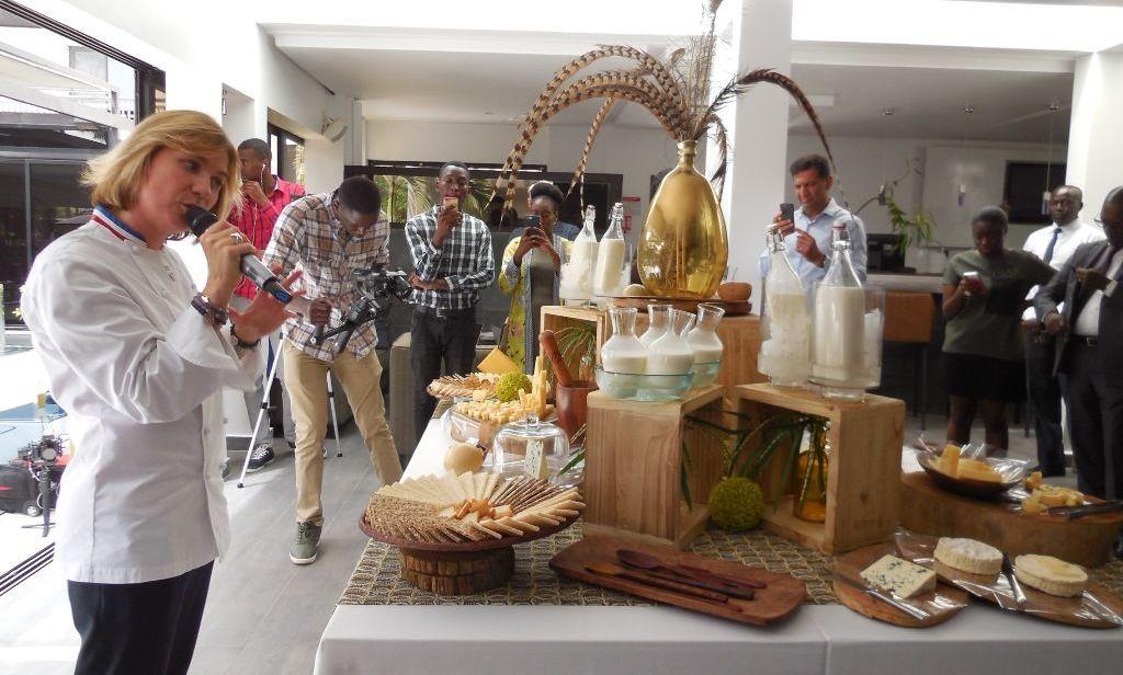 Laetitia Gaborit lors de la campagne AfroGourmands, Dakar