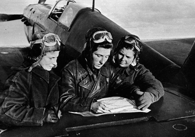 Pilotes soviétiques durant la Grande Guerre patriotique