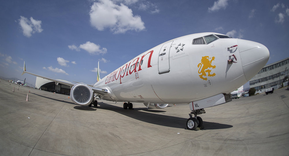 Un Boeing 737 Max 8 d'Ethiopian Airlines à l'aéroport international d'Addis-Abeba, le 23 mars, 2019