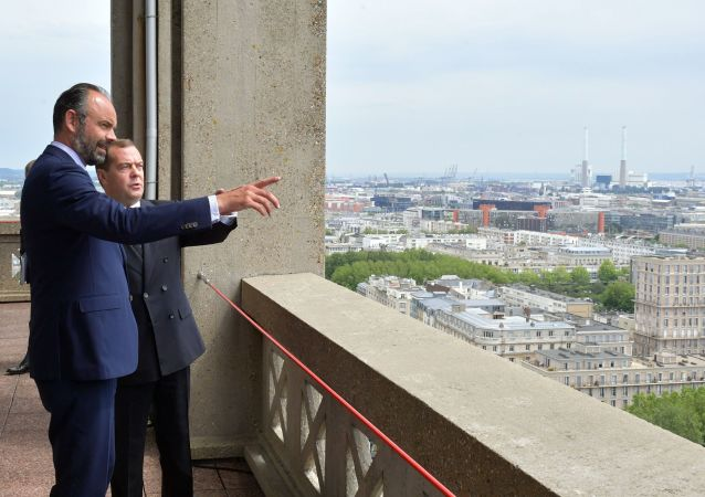 Édouard Philippe et Dmitri Medvedev au Havre