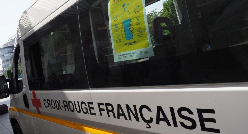 Une voiture de la Croix Rouge française (image d'illustration)