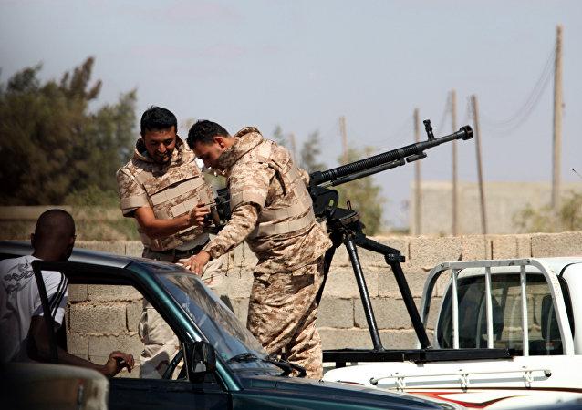Des soldats de l'ANL près de Benghazi en Libye (archive photo)
