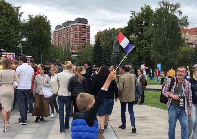 Journée de France à Moscou le 14 juillet