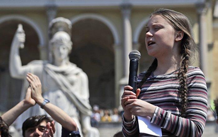 Greta Thunberg à Rome, le 19 avril 2019