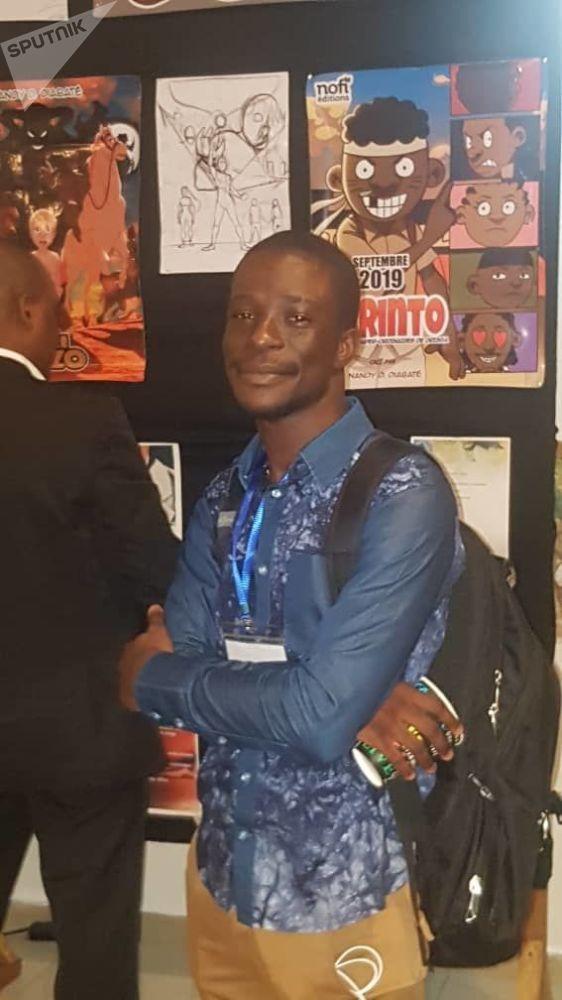 Nandy Diabaté, 22 ans, en licence à l'école nationale des beaux-arts, illustrateur BD, initiateur du Visu'art Festival
