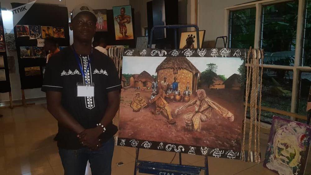 Mohamed Coulibaly, 22 ans, peintre, étudie l'architecture d'intérieur à l'école nationale des beaux-arts