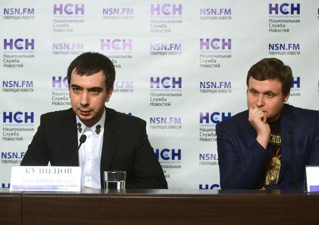Les farceurs russes Vladimir Kouznetsov (Vovan) et Alexey Stolyarov (Lexus)