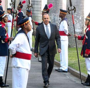 Lavrov au Brésil lors de la rencontre des BRICS