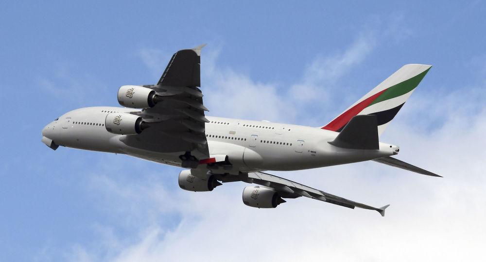 Un Airbus A380 de la compagnie aérienne Emirates