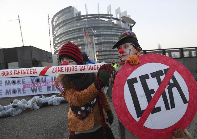 Les manifestations contre le TTIP et le CETA en France