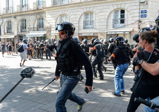 Manifestation à Nantes