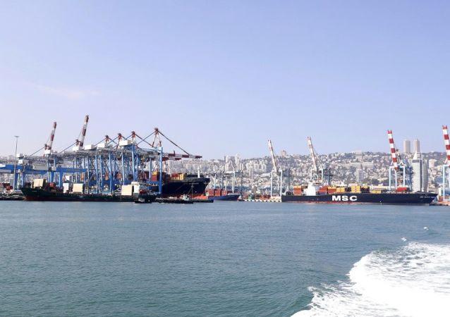 Le port de Haïfa en Israël, le 7 juillet 2019