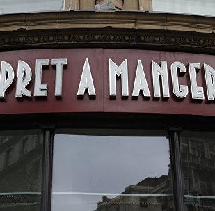 Un restaurant de la chaîne Prêt à Manger à Londres