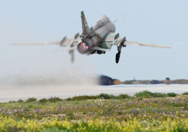 Un Su-17 des forces gouvernementales syriennes