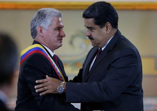 Miguel Diaz-Canel et Nicolas Maduro