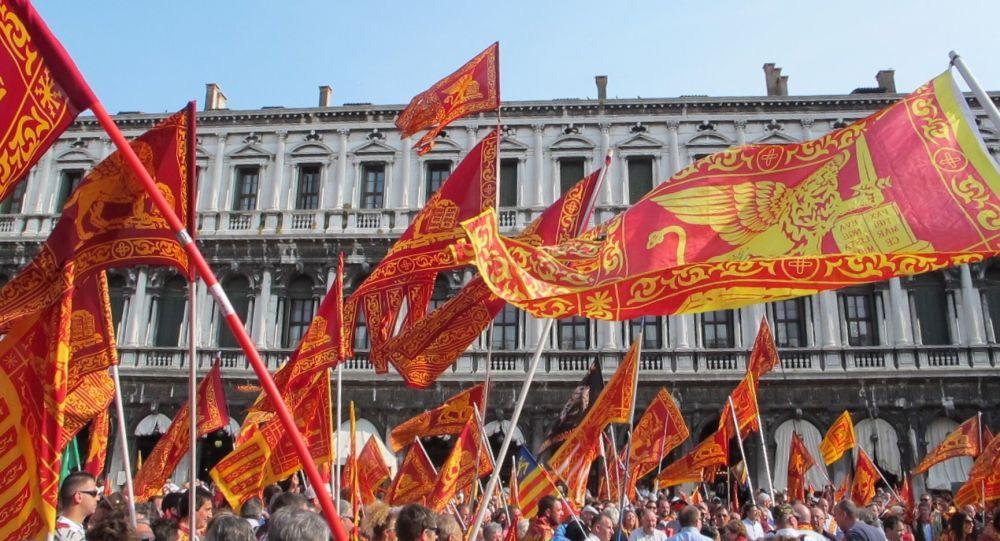 Une manifestation à Venise