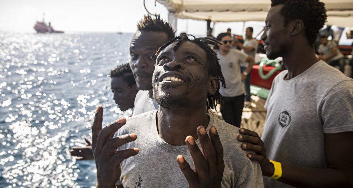 Des migrants à bord de l'Open Arms (archive photo)