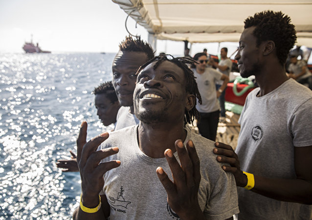 Des migrants à bord de l'Open Arms (archive photo)