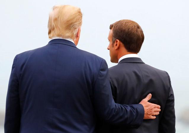 Donald Trump et Emmanuel Macron lors du sommet G7 à Biarritz