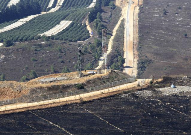 Vue sur Avivim depuis le sud du Liban